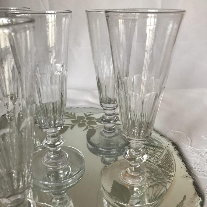 Flûtes en cristal de Saint Louis modèle Caton