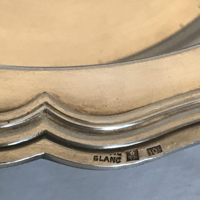 Légumier en métal argenté