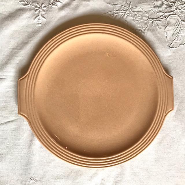Plat à gâteaux rose Pompadour