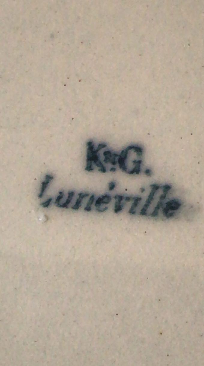Assiettes creuses Lunéville