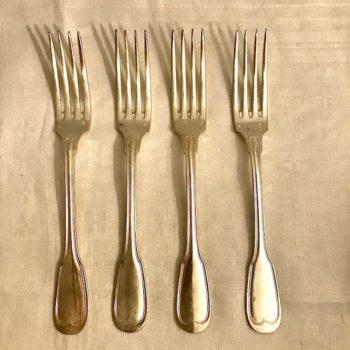 Lot de 4 fourchettes motif «au filet»