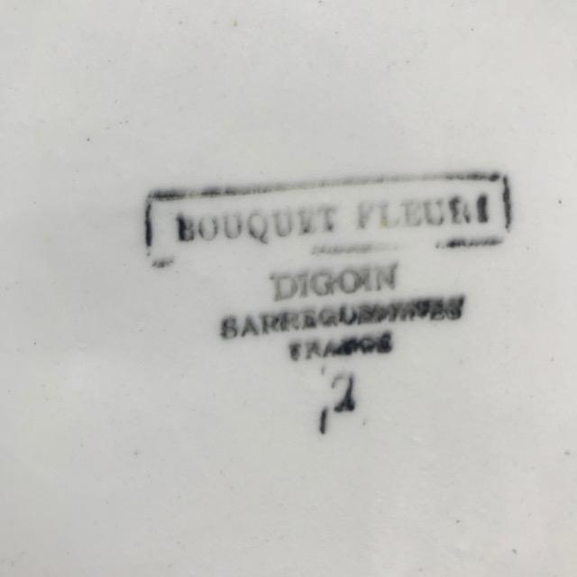 Plat Bouquet Fleuri Digoin