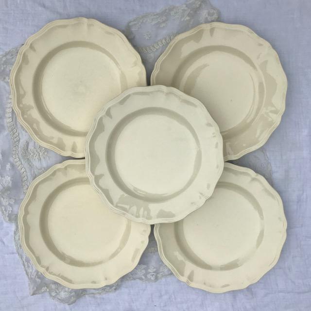 Assiettes crème Digoin Sarreguemines