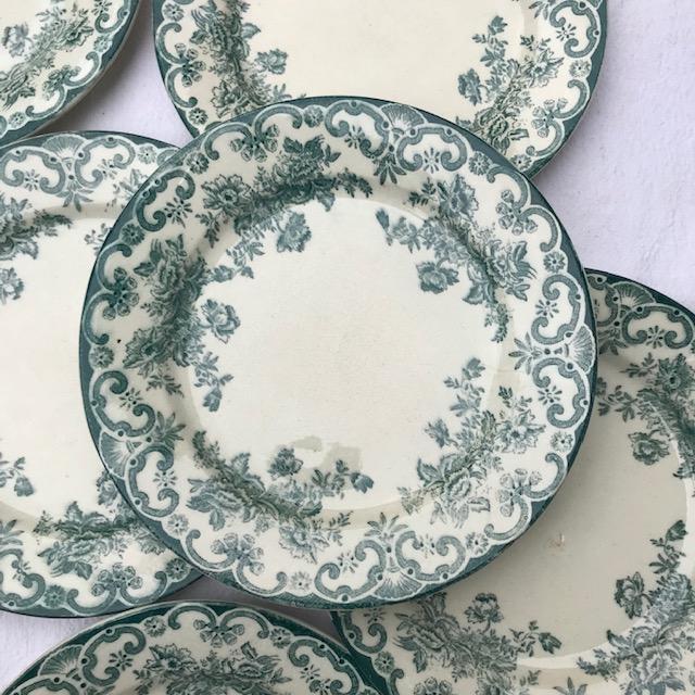 Assiettes creuses motif anglais