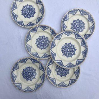 Assiettes plates Cluny de Longwy