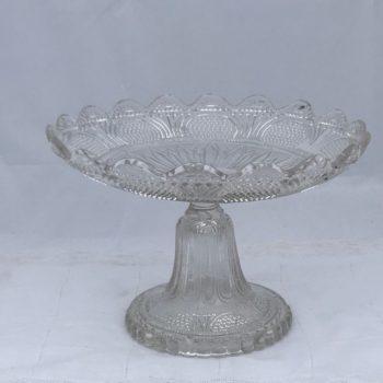 Coupe à fruits en verre ancien