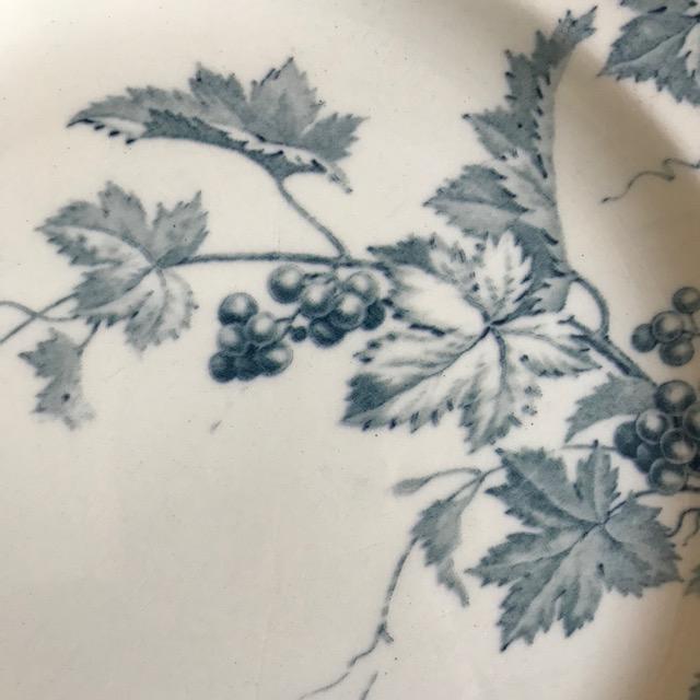 Plat à décor de pampres de vigne