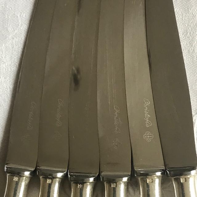 Six couteaux à dessert Christofle