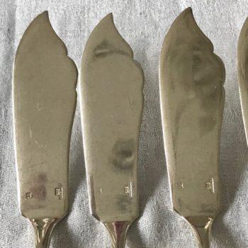 Six couteaux à poisson Christofle