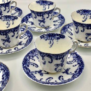 Dix tasses à thé ou café Royal Stafford