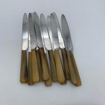 Douze couteaux en corne