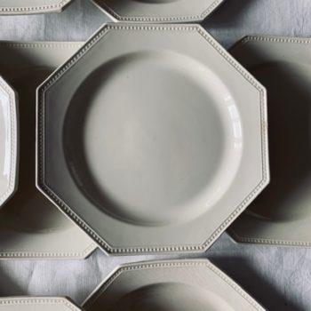 Assiette octogonale Montereau