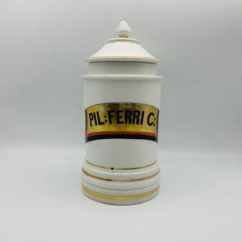 Pot à pharmacie en porcelaine