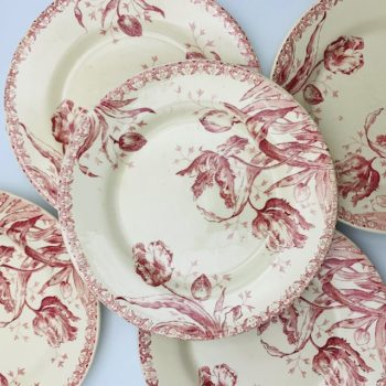 Assiettes plates Tulipes de Gien