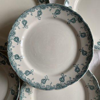 Six assiettes plates Luna