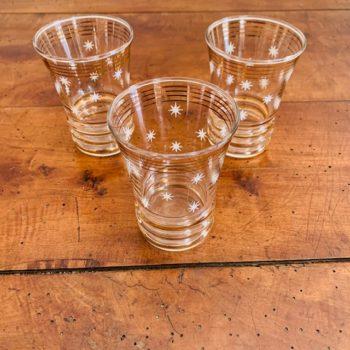 Trois petits verres étoilés