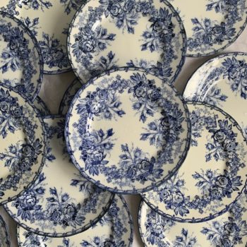 Assiettes plates Flora T Creil & Montereau