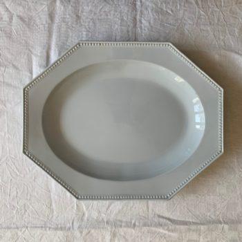 Grand plat octogonal Montereau