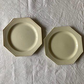 Assiette plate octogonale Montereau