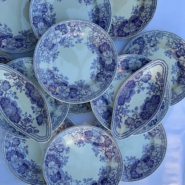 Assiettes plates Géranium