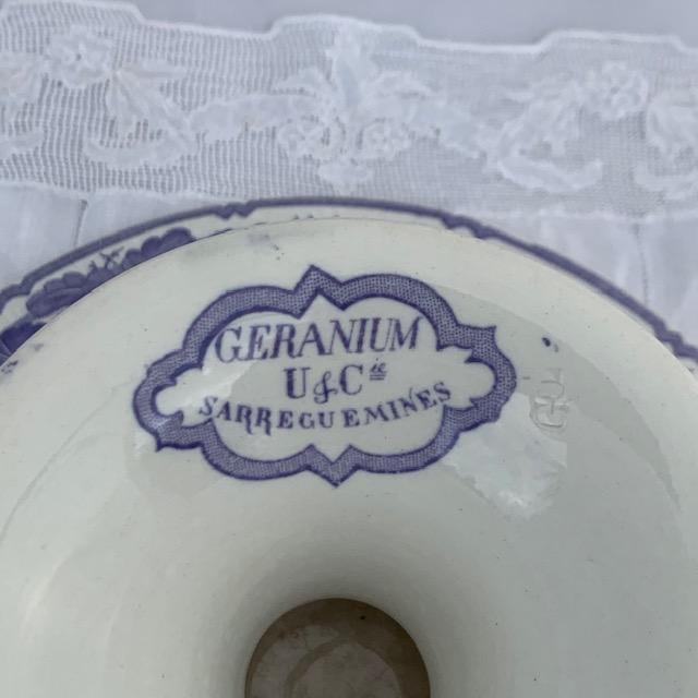 Grande coupe à fruits Géranium
