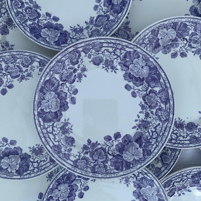 Assiettes à dessert Géraniums