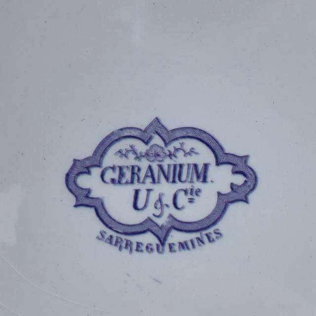 Grand plat Géranium