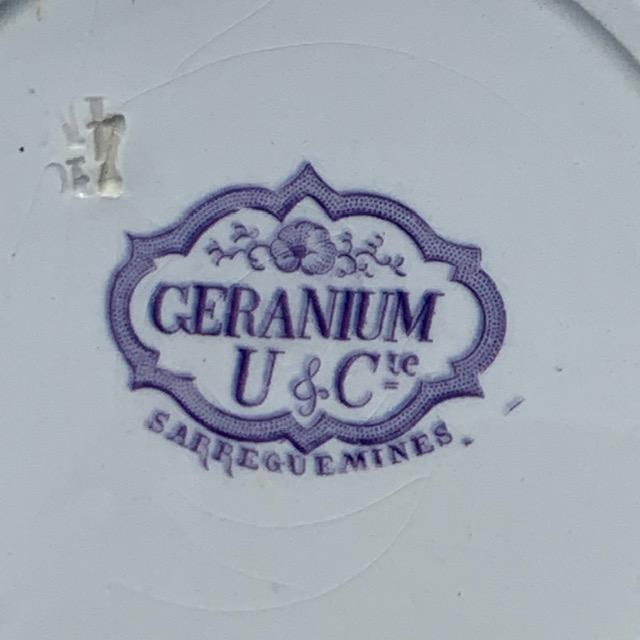Assiettes creuses Géranium