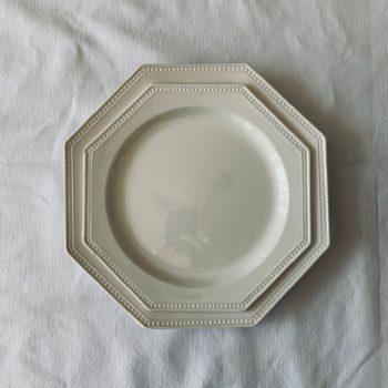 Deux assiettes octogonales Montereau