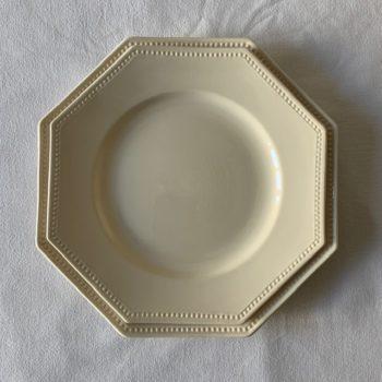 Deux assiettes plates octogonales Sarreguemines