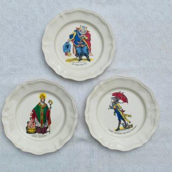Trois assiettes d'Epinal