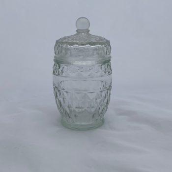 Bonbonnière en verre taillé