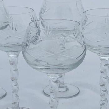 Six verres à porto