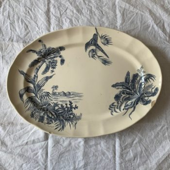 Grand plat ovale Exotique