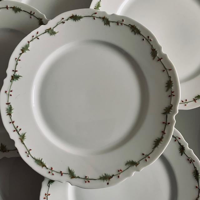 Assiettes plates Houx