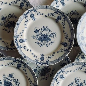 Assiettes plates décor chinois