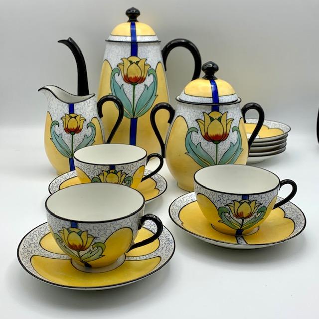 Service à café art nouveau