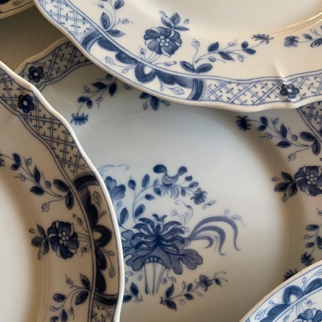 Assiettes à dessert Bleu de Chine