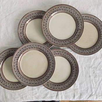 Assiettes plates frise grecque 24 cm