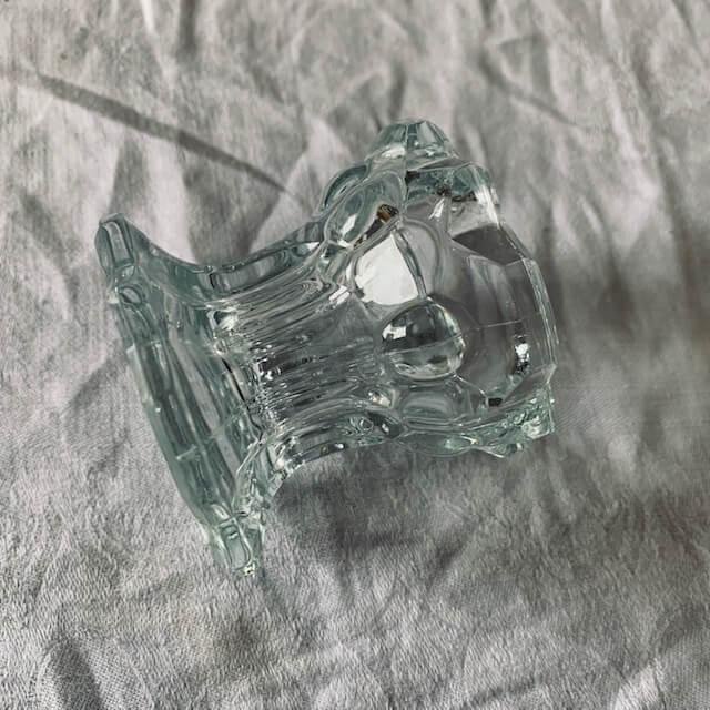Petit bougeoir en verre