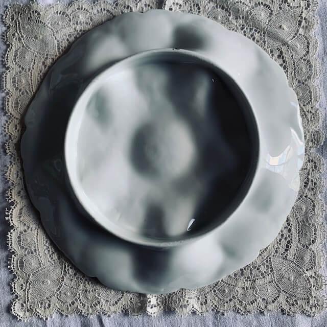 Assiette à crustacés en porcelaine