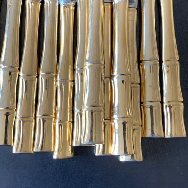 Couteaux vintage forme bambou