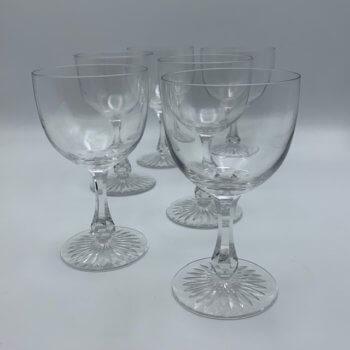 Verres à vin vintage en cristal